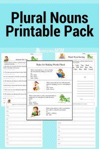Plural Noun Printable Worksheets