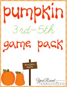 Pumpkin Printable Pack 3rd – 5th