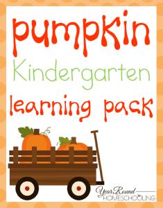 Kindergarten Pumpkin Learning Pack