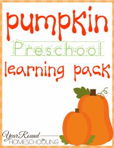 Printable Pumpkin Preschool Pack
