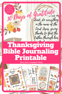 Printable Thanksgiving Bible Journal