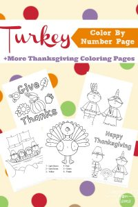 Printable Thanksgiving Color By Number Pages