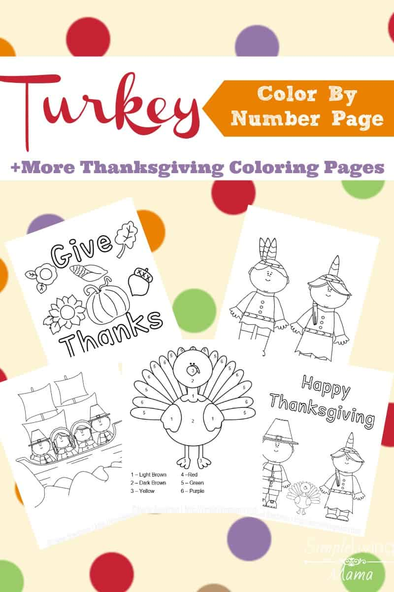 Free Coloring Pages: COLOR BY NUMBER * THANKSGIVING COLORING PAGE ... | 1200x800