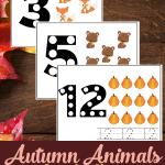 Free Autumn Animal Counting Printable