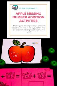 Printable Apple Addition