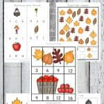 Fall Kindergarten Printable Pack