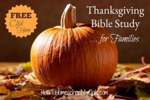 Free Thanksgiving Bible Study