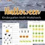 Printable Kindergarten Halloween Math