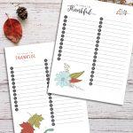 Printable Thankfulness Worksheet