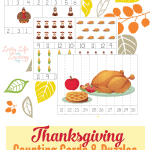 Printable Thanksgiving Counting Cards