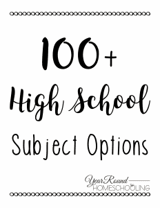 Free 100+ High School Subject Options