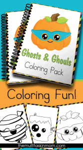 Ghosts and Ghouls Coloring Pages