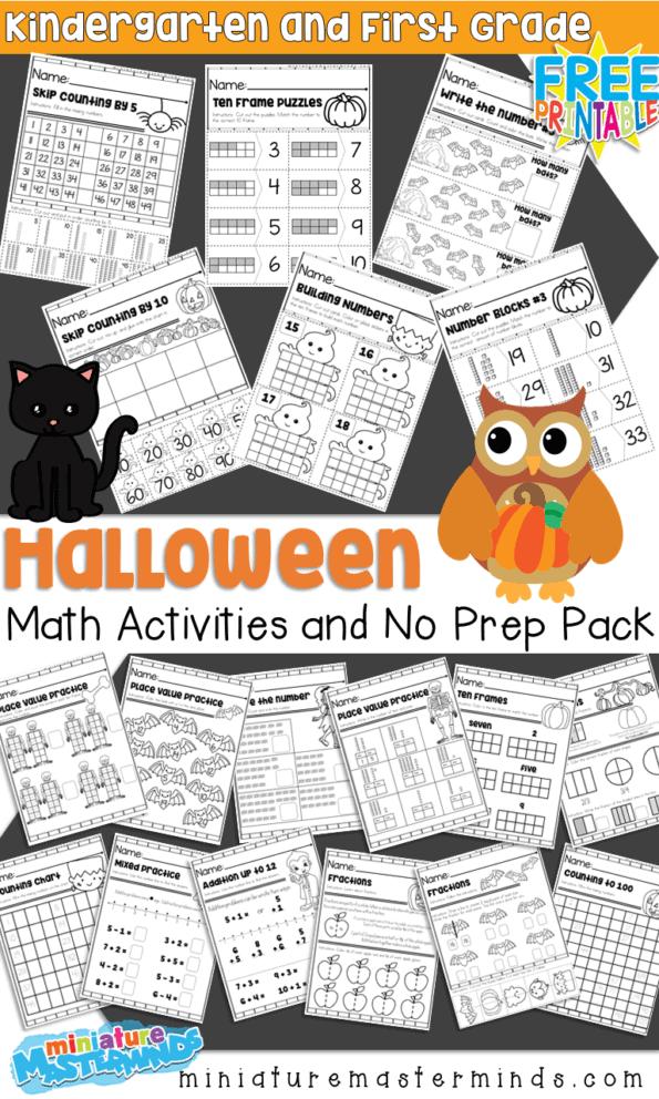 Halloween Themed Kindergarten and First Grade Math ...