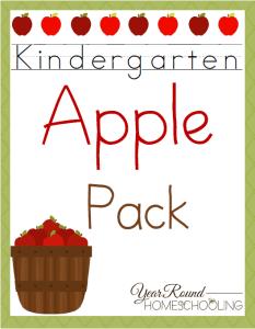 Apple Pack For Kindergarten