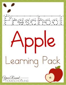 Preschool Apple Pack
