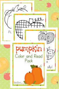 Printable Pumpkin Color and Read Pack