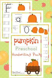 Preschool Pumpkin Themed Handwriting Pack