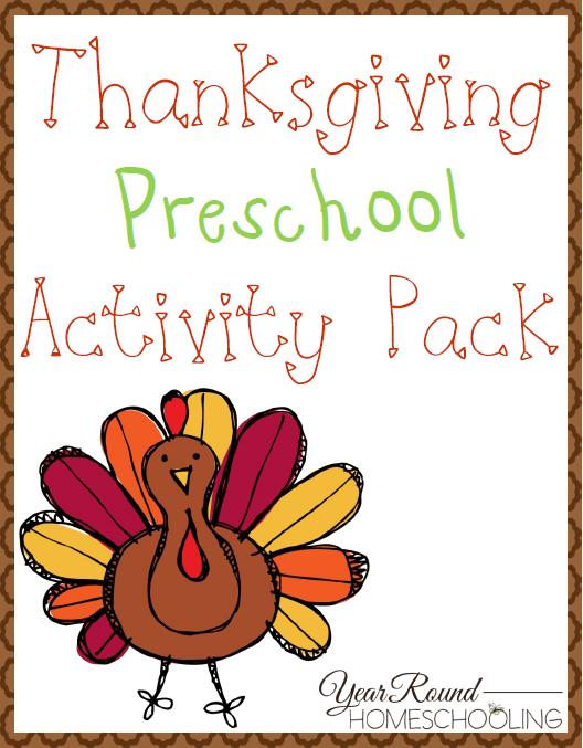 preschool thanksgiving learning pack homeschool printables for free