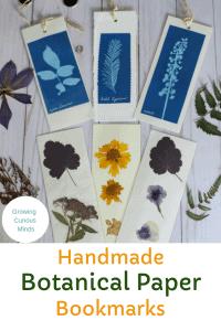 Printable Handmade Botanical Paper Book