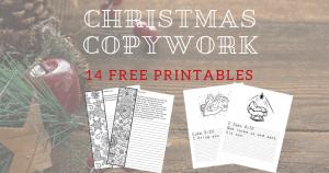 Free Christmas Copywork Printables