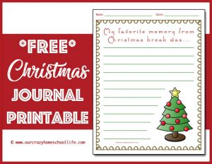 Christmas Journal Printable