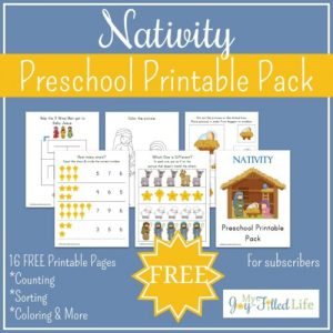 Preschool Nativity Printable Pack