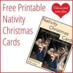Printable Nativity Christmas Cards