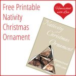 Printable Nativity Ornament