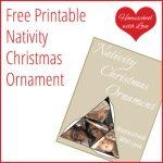 Printable Nativity Ornament