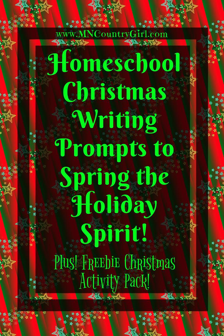 Christmas Writing Prompts.Christmas Writing Prompts Printables Homeschool