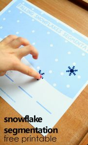 Printable Snowflake Segmentation Worksheet
