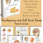 Printable Thanksgiving Unit Study