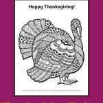 Printable Turkey Coloring Page
