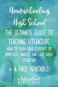 Printable High School Literature Checklist