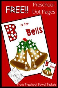 Christmas Bells Dot Printable