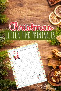 Christmas Find the Letter Printables