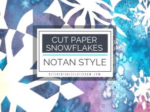 Notan Cut Paper Snowflakes