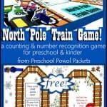Printable North Pole Train Game