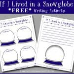 Snowglobe Writing Prompt Printable