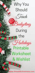 Christmas Budget Printable