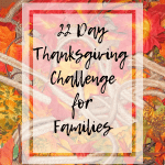 Thanksgiving Challenge and Printable Journals