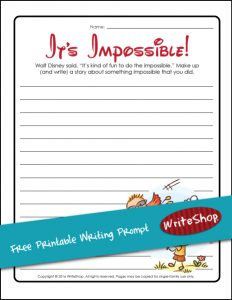 Free It's Impossible Writing Prompt