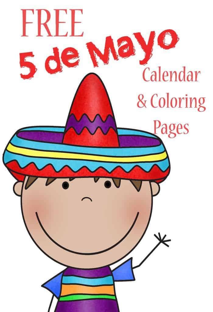 Free Cinco de Mayo Coloring & Calendar