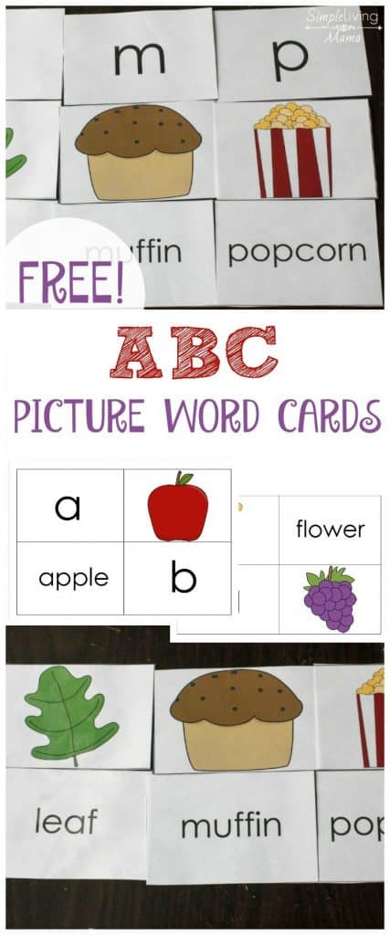 Free ABC Picture Word Cards
