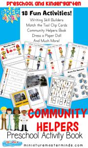 Community Helpers Preschool pack