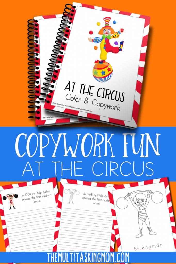 Free Circus Color and Copywork