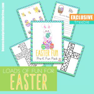 Easter PreK Fun Pack Exclusive Freebie