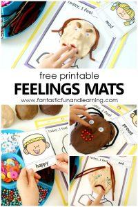 Free Emotions Playdough Mat