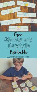 Free States & Capitals Cards