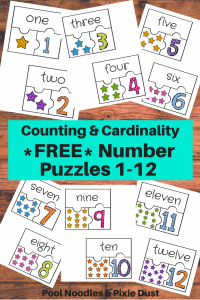 Free Number Puzzles - Pool Noodles & Pixie Dust